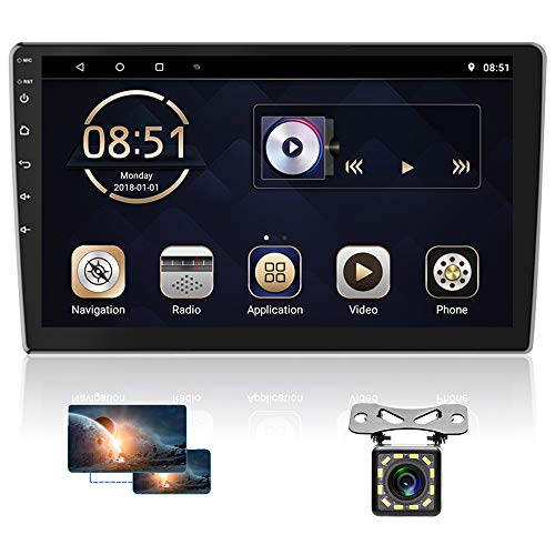 10 Inch Android Car Radio Double Din Car Navigation Stereo Touchscreen Car Multimedia Receiver Bluetooth FM Radio Support Split Screen, WiFi Connect, Mirror Link, Reversing Image Input