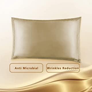Copper Pillowcase for Fine Lines/Wrinkles Reduction & Hair Smoothing with Anti-Aging Copper Pillow Protector-Silk Like Fab...