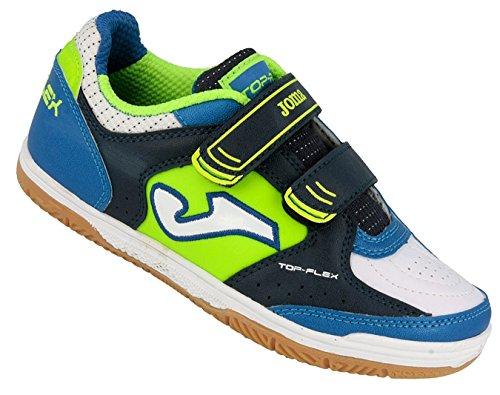 Joma Top Flex Jr Hallenschuhe Kinder blau grün weiss Futsal Schuhe NEU, Schuhgröße:30