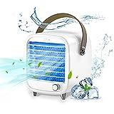 Exatfina Enfriador de Aire Acondicionado Portátil,Ventilador de Aire Frio Pequeño,Humidificador Ventilador USB Móvil