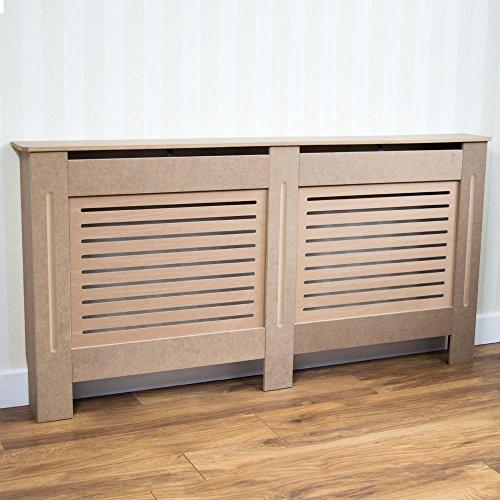 Vida Designs Milton Radiator Cover Unfinished Modern Unpainted MDF Cabinet, Large