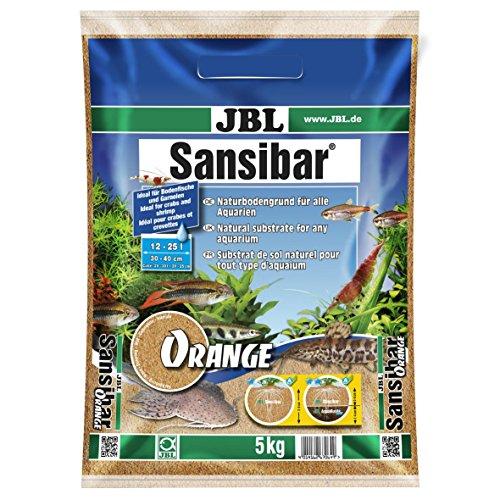 JBL Bodengrund Orange für Süß- und Meerwasser Aquarien, Sansibar Orange 10 kg, 67065
