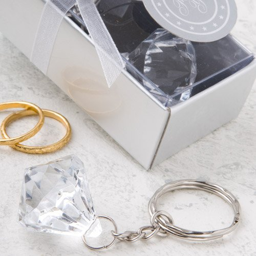 Diamond Design Keychain Cheap Wedding Favors, 48
