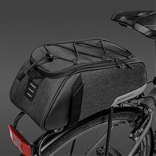Roswheel Fahrradtasche Fahrrad Satteltasche Gepäcktasche Gepäckträger Tasche Rucksack Seitentasche 7L Schultertaschen Reflektierender(2018 Neuer Stil) - 2
