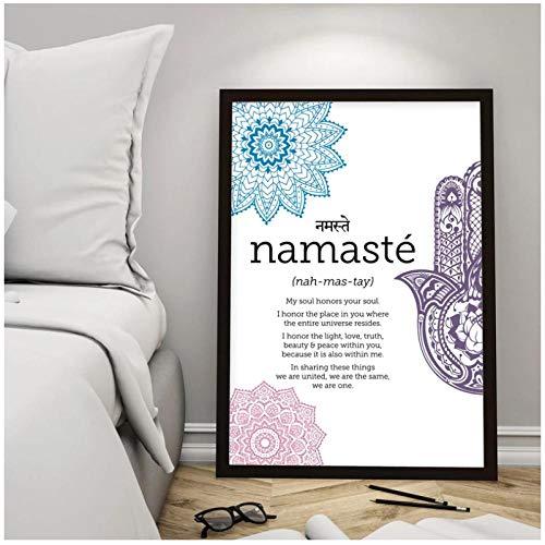 Namaste Definition Poster