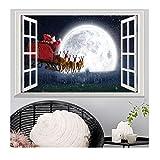 CAOQAO Fensterbilder for Weihnachts Und Winter Dekoration, Dekorative Malerei SchlafzimmerWohnzimmer TV Wanddekoration Wandaufkleber Wandbild, 50 * 70cm