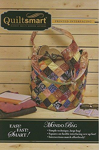 Quiltsmart Mondo Bag Fun Pack pattern and printed interfacing, Multi, Multicolor