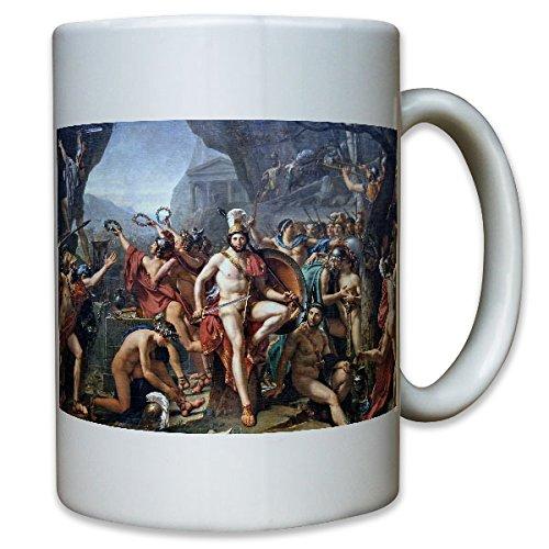 Léonidas van Thermopyles Jacques Louis David Schilderij Sparta 300 Oorlogers Xerxes Perzische Lemee, feest - Koffiebeker Cup #11878