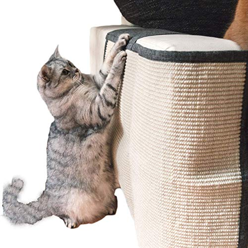 OH Creative Cat Scratching Pad Sofa Protective Shield Sisal Furniture Protector Pet Grinding Footpad Scratch Carpets Cat Scratchers/Gray/Left