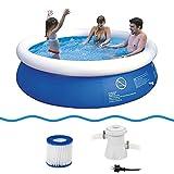 Jilong Prompt Set Pool Marin Blue 240 Set - Quick-up Pool Set mit Filterpumpe 240x63cm