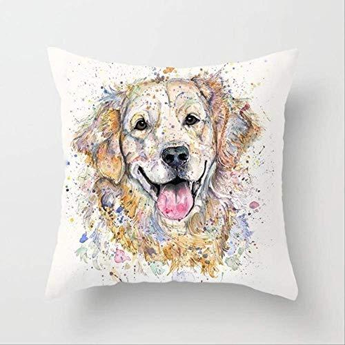 N\A 45 * 45cm Cute Dog Pillowcase, Kids Gift, Animals Puppy Pillows Covers Throw Pillowcase,home Decoration Cushion Cover