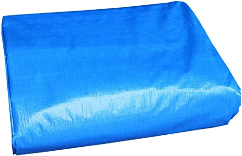 TONG YUE SHOP Bache PE Bleue Double Film Imperméable à l'eau Solaire Bleu en Plastique Toile Couverture De Cour en Tissu Voiture Bache Tente (Taille   3.8x5.8 Meters)