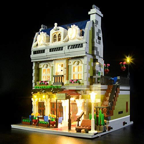NURICH Licht Set für Lego 10243 Pariser Restaurant, USB Stecker, passen zum Lego 10243