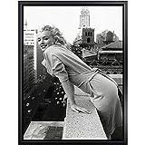 Marilyn Monroe Lienzo Pared Arte Famosos Película Estrella Poster Marilyn Monroe Negro Y Blanco Pared Pintura Sala Hogar Nórdico Cuadros Decoración(No Marco)