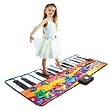 "Joyin Toy 71"" Gigantic Keyboard Playmat Piano Play Mat Kids Electronic Music Playmat Colorful Dance Mat-24 Keys with Record, Playback, Demo, Play, Adjustable Vol. Mode"