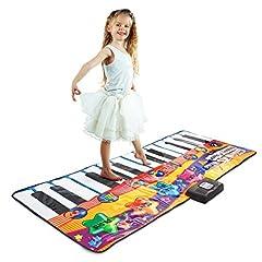 "SUPER VALUE. 71"" Gigantic 24 Touch Sensitive Keys Piano Fun Electronic Keyboard Music Dance Mat. Dancing Mat Comes with 8 Musical Instruments: Saxophone, Violin, Clarinet, Trumpet, Banjo, Xylophone, Guitar. 4 Modes: Record, Playback, Demo, Play. Adju..."