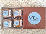 Tula Bakeshoppe Gourmet Gluten Free Peanut Butter Lovers Brownies and Blondies Gift Box - Chocolate Peanut Butter Blondie and Peanut Butter Brownie (4 bars)