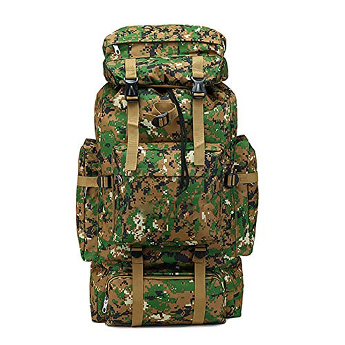 Military Tactical Backpack Outdoor Backpack 70L Large Capacity Mountaineering Bag Camouflage Camping Hiking Luggage Backpack E
