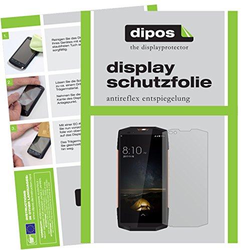 dipos I 2X Schutzfolie matt kompatibel mit Blackview BV9000 Pro Folie Bildschirmschutzfolie
