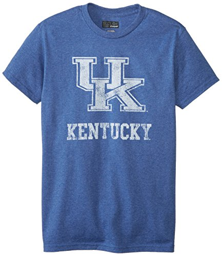 Majestic NCAA University of Kentucky Men's Always Admired Short Sleeve Tee, Stadium Blue, Small