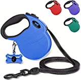Tuff Pupper Retractable Dog Leash and 40oz Pupflask Portable Water Bottle - Blue