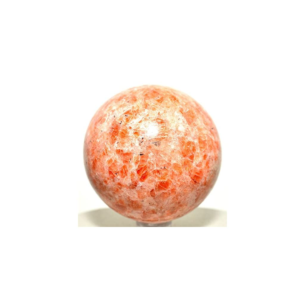"2"" Sunstone Crystal Ball For Meditation"