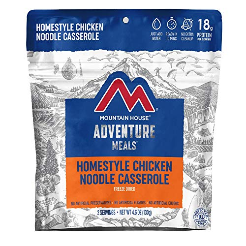 Mountain House Homestyle Chicken Noodle Casserole | Freeze Dried Backpacking & Camping Food | 2 Servings