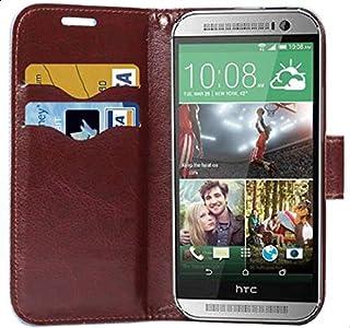 محفظة جلد ورود اتش تي سي ون ام 8 ميني  HTC One M8 mini
