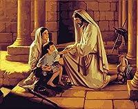 イエス5DDIYダイヤモンド絵画フルキット大人と子供は家の壁の装飾のためのダイヤモンドモザイク工芸品(40x50cmスクエアダイヤモンド)を贈ります