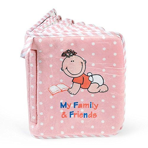 Baby Girl's First Photo Album of Family & Friends - Holds 15 Photos!