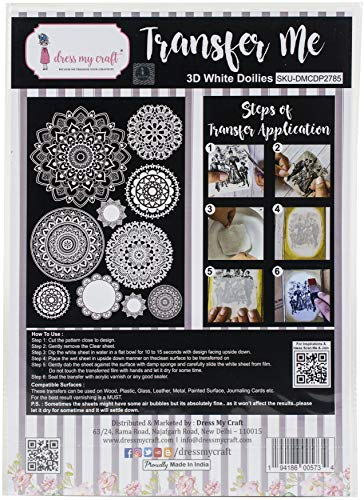 Dress My Craft Transfer Me Sheet A4-3D White Doilies