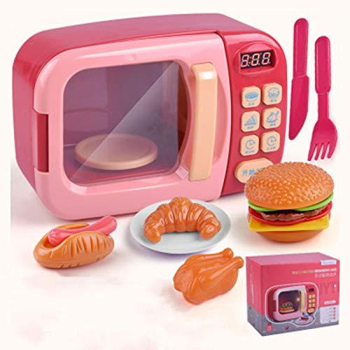 COJJ Juego de vajilla de Cocina de simulación de niña de Juguete de Cocina de casa de Juego de simulación para niños