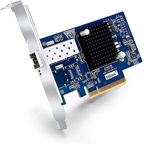 10Gb PCI-E Netzwerkkarte Intel X520-DA1-82599ES Chipsatz, 10 Gigabit Netzwerkadapter PCI Express x8 LAN, Single SFP+ Port NIC für Windows Server, Linux, VMware ESX - ipolex