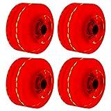 Luminous Skateboard Wheels 4pcs / set Multifunción llerskate Shoes Park Práctico Light Up Skateboarding Interior Exterior 82A Dureza para patinaje cuádruple Fácil instalación con rodamientos(rojo)