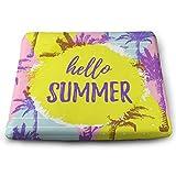 Houity Summer Fashion Bunte Palmen 100% Polyester quadratisches Kissen mit Kissen Kern Stuhlkissen...