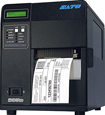 "Sato WM8420041 Series M84PRO Industrial Thermal Printer, 203 dpi Resolution, 10 IPS Print Speed, Ethernet Interface, DT/TT, 4.1"""