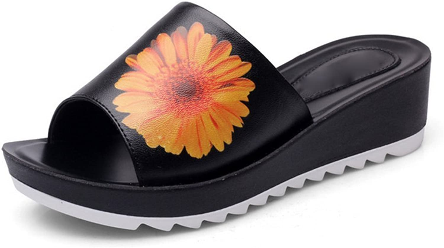 Weiwei Ladies Thick-Soled Sandals and Slippers,Summer Flip Flops High Heels Slippers
