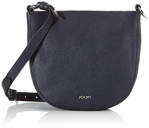 Joop! Schultertasche Chiara Stella aus Leder Damen Handtasche mit Reißverschluss - Blau