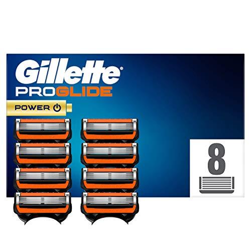 Gillette Fusion 5 ProGlide Power Cuchillas de Afeitar Hombre, Paquete de 8 Cuchillas Recambio (El Diseño Exterior del Paquete Puede Variar)
