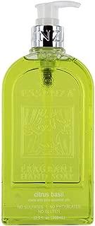 Essenza Citrus Basil Luxury Hand Soap - No Sulfates | No Phthalates | No Gluten 12.5 fl oz. Made with Pure Essential Oils