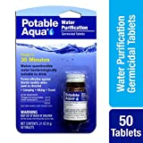 Potable Aqua Germicidal Water Purification Tablets - 50 count Bottle
