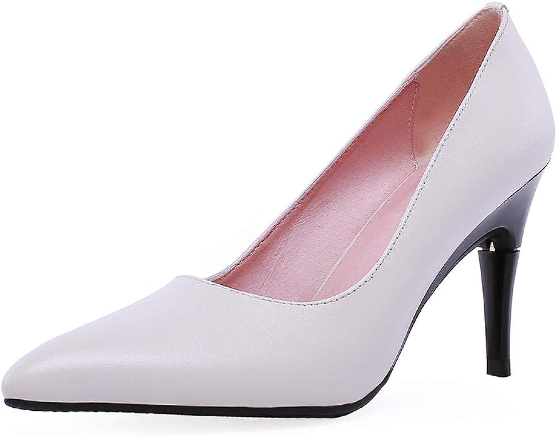 Damen High Heels Pumps Pumps sexy Echtes Leder Spitzschuh Dünne Fersen Party Schuhe  modisch