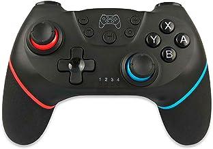 BIGFOX Mando Inalámbrico para Switch, Wireless Pro Switch Controller Controlador Bluetooth Gamepad 7.0.1 con Gyro Axis Dual Shock Vibration (Negro)