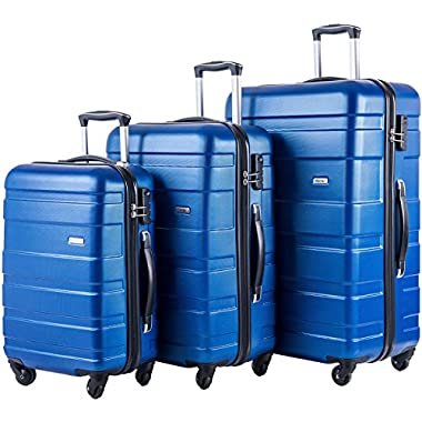 Merax MT Imagine Luggage Set 3 Piece Spinner Suitcase 20 24 28inch (Blue)