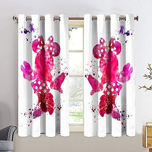 Decorative Curtains Mickey Minnie Mouse Total Blackout Window Curtains Home Decor Window Drape W42 x L72