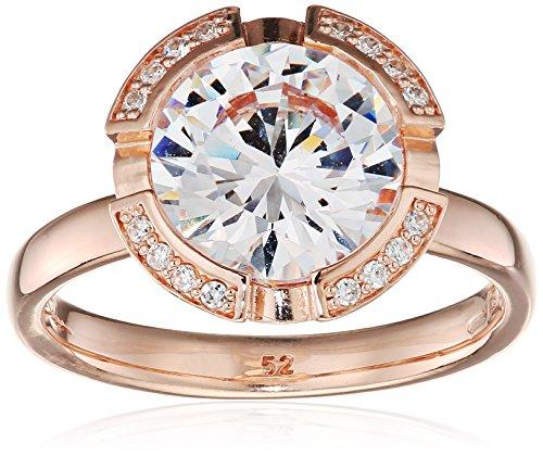 Thomas Sabo Damen-Ring Glam & Soul 925 Sterling Silber 750 rosegold vergoldet Zirkonia weiß Gr. 52 (16.6) TR2038-416-14-52