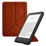 MoKo Case Fits All-New Kindle (10th Generation - 2019 Release Only), Standing Origami Shell Cover with Auto Wake/Sleep, Will Not Fit Kindle Paperwhite 10th Generation 2018 - Vintage Style