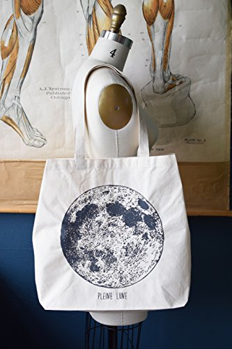 Tote Bag - Moon Phase - Canvas Tote Bag - Carry All Tote Bag - Shopping Tote - Large Tote Bag - Reusable