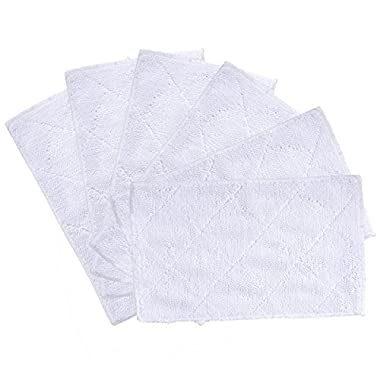 KEEPOW 6 Pack Cleaning Mop Pads for Light 'n' Easy S3101, S7326, S3601 Floor Steam