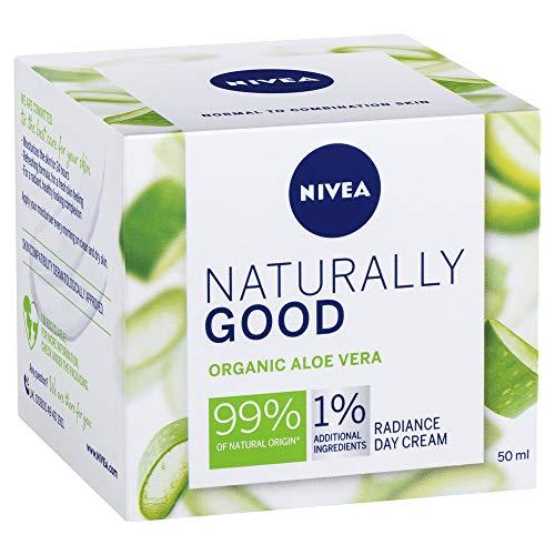 NIVEA Naturally Good Radiance Day Cream Face Moisturiser with Organic Aloe Vera, 50ml, 50 ml